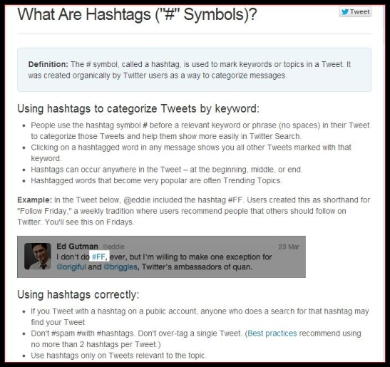What's a hashtag symbol