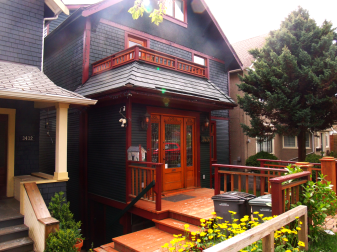 birdhouse on the porch